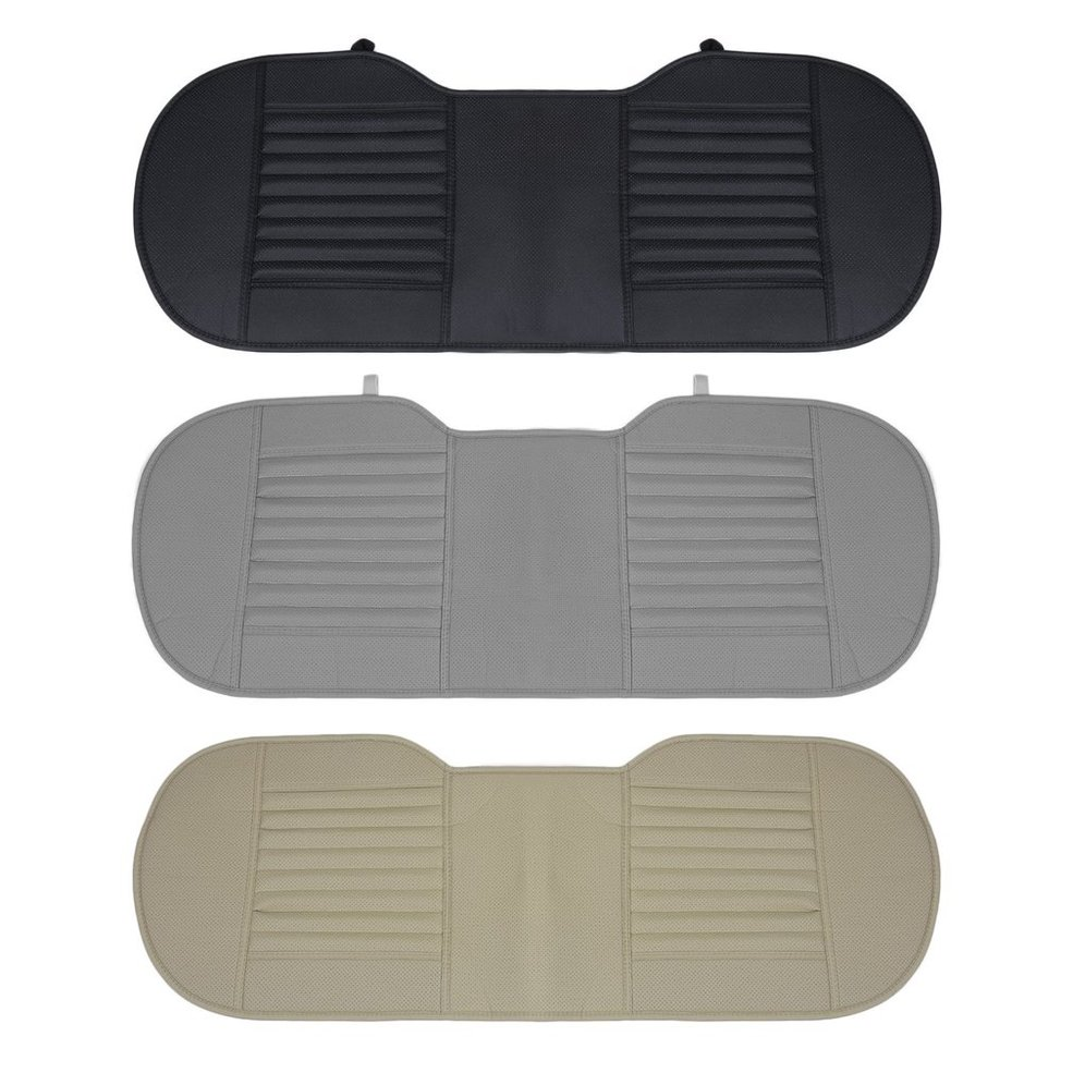 Universal Car Seat Mat Charcoal Auto Double Back Seat Pad Breathable Anti-slip Synthetic Leather Car Rear Seat Cover
