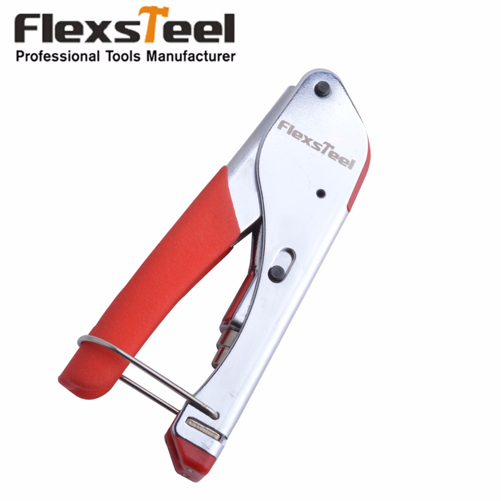 Flexsteel Crimping Tool Coaxial Cable Tool Compression Tool Crimper For Coaxial F Connector RG6 Cable Alicate Terminador crimping tool coaxial cable compression tool crimper for coaxial connector cable alicate terminador 50pcs compression connectors