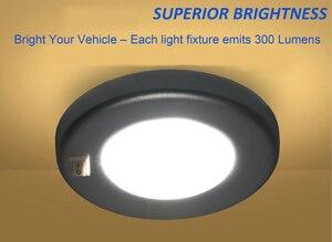 Image 5 - 3 W LED Tavan Kubbe hafif paslanmaz çelik Oval Iç Lamba 12 V tekne Motorum Aksesuarları
