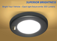 dome lamp 3W LED Ceiling Dome Light Stainless Steel Oval Interior Lamp for 12V Marine Boat Motorhome Accessories (5)