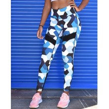 New Women Leggings Colour Geometry Print Mesh Legging High Waist Fitness Workout Adventure Time hot Pants trousers women