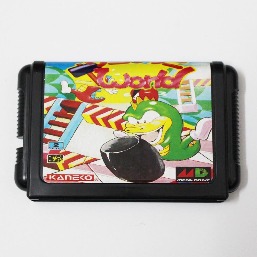 Wani Wani World 16 bit MD Game Card For Sega Mega Drive For Genesis