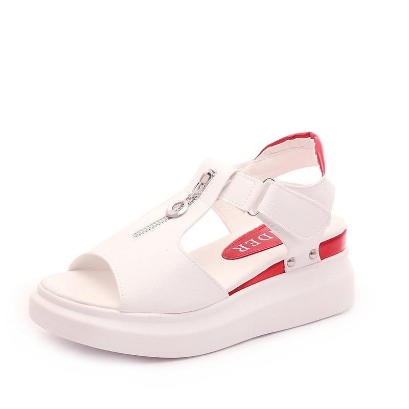 2018 Summer New Female Student Sandals Korean Flat Big Boy Girl High School Junior High School Students Flat With Womens Shoes