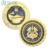 50/100pcs USCG Gold Plated Coin Army Commemorative Medals United States Coast Guard Reserve Security Detachment Challenge Coins