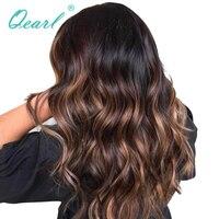 Qearl 1B/33 #/30 # Glueless полный кружево натуральные волосы парик для черный для женщин 150% детские волосы спереди с предварительно сорвал Hairline полный
