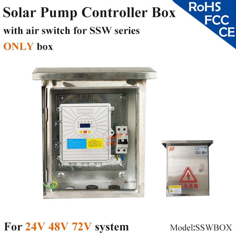 Solar pump controller box with air switch , specially used for SSW series solar pump controller spa hot tub bath pump blower air switch for china lx pump air switch