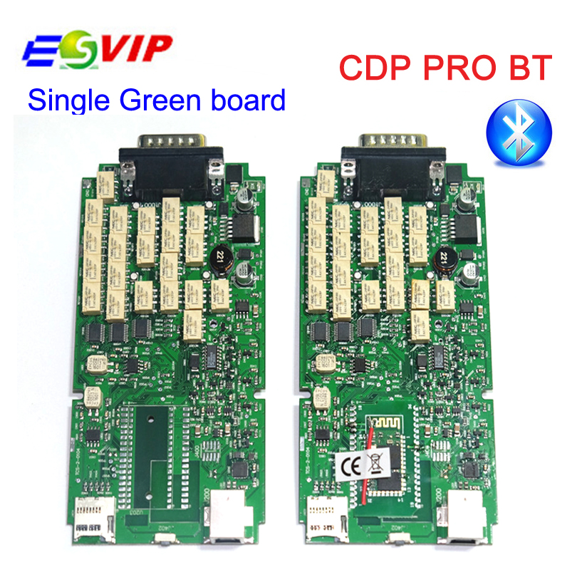 3pcs/ Single board CDP PRO NEC relays TCS CDP PRO Diagnostic scanner Tool CDP 2015.1/2015.R3+ Bluetooth for CAR/TRUCK DHL free multi language professional diagnostic scanner same function as tcs cdp plus scanner multidiag pro tf card bluetooth v2015 3