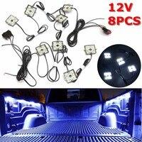 12 v 8 pces waterproof 5630 smd caminhão cama/caixa de trabalho led iluminação kit feixe branco|Sensores e interruptores| |  -