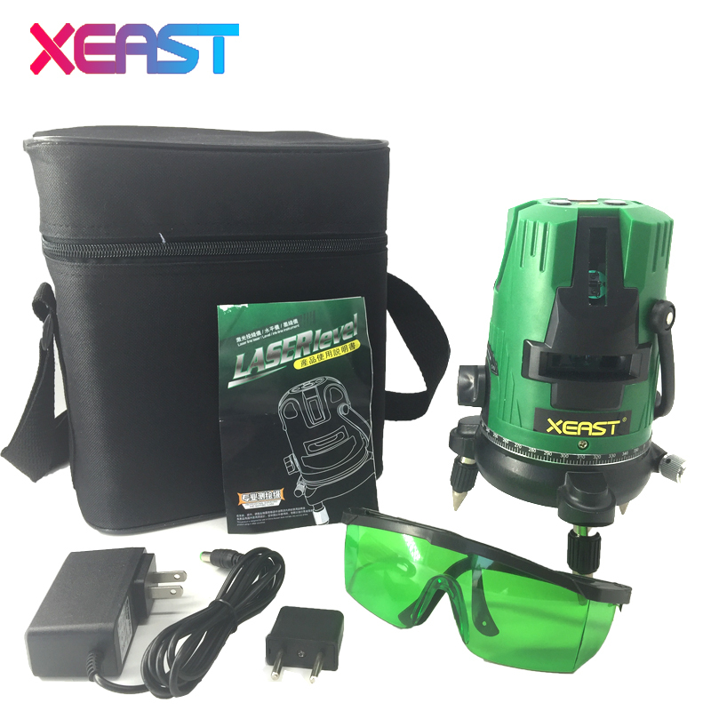 XEAST XE-83G 5 lines 6 points laser level Tilt Function 360 rotary Self Lleveling cross laser line leveling outdoor model tools агхора 2 кундалини 4 издание роберт свобода isbn 978 5 903851 83 6