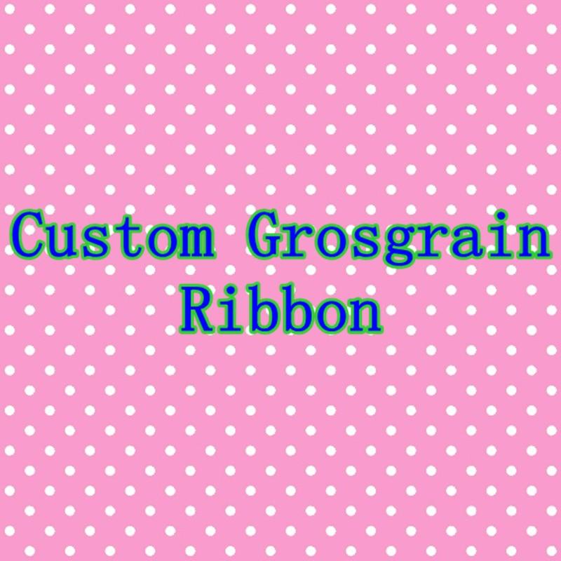 DHK Many Sizes 50yards 100yards Custom Ribbon Printed Grosgrain DIY OEM Decoration S819