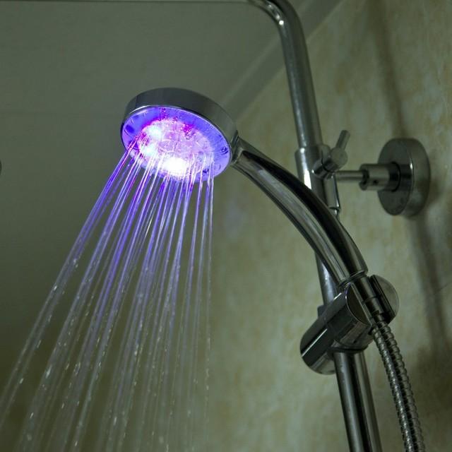 Shower 7 Colors LED Shower Head Handheld Romantic Light Color ...