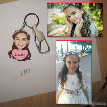 keychain custom logo Gift for girlfriend Birthday Special Presents Polymer Clay Figurine Christmas gift doll handmade keyring
