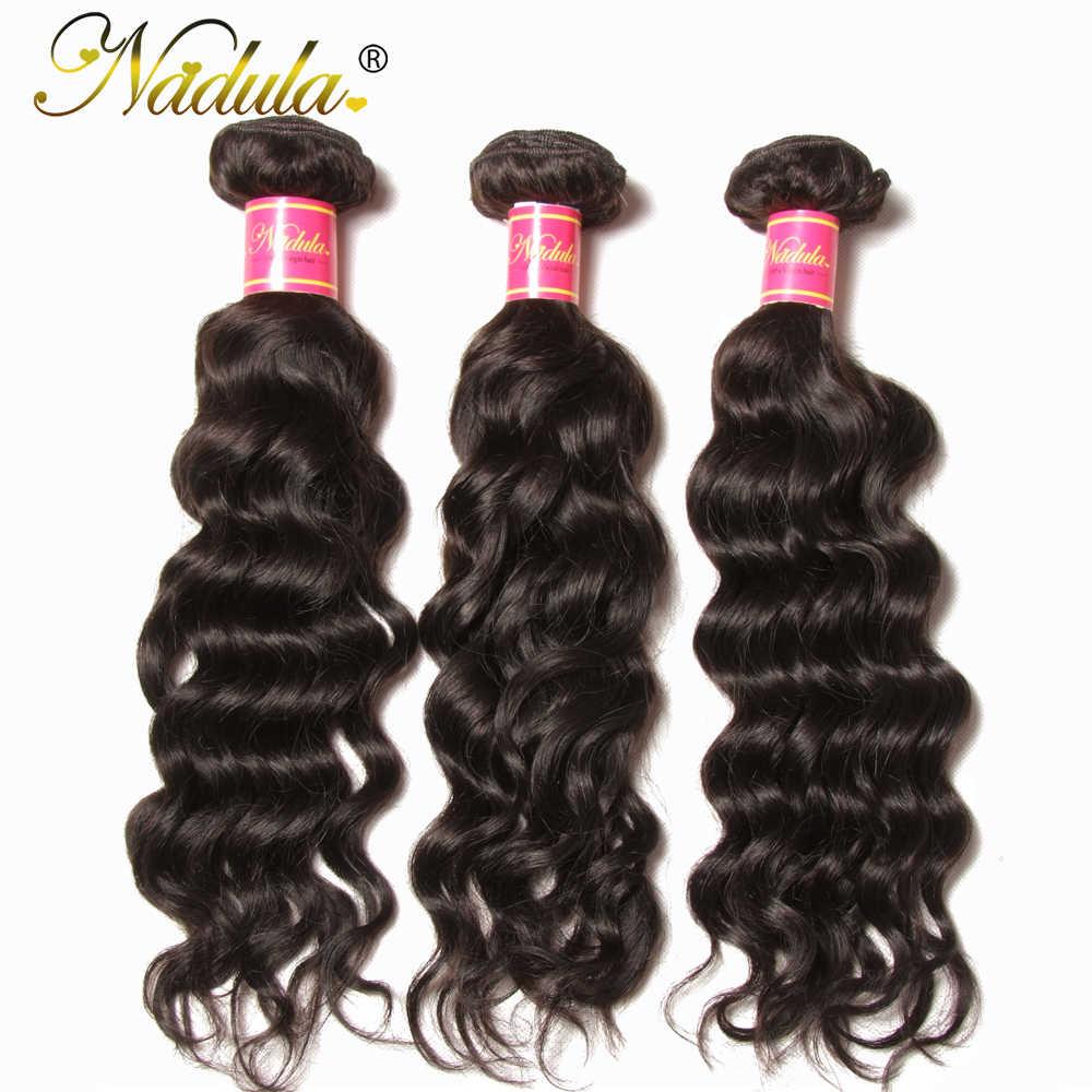 Nadula Haar Bundles Brasilianische Natürliche Welle Haar Spinnt 8-26 zoll Menschliches Haar Extensions 3PCS Natürliche Farbe Remy haar Freies Verschiffen