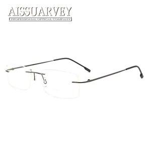 Image 2 - סיטונאי 10 יח\חבילה גברים משקפיים מסגרות ללא שפה משקפיים אופטי מרשם טיטניום סגסוגת אור משקפי עסקי זול
