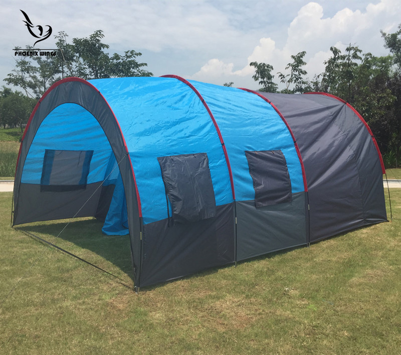 Tunnel 10 Person Tents Large C&ing tent Waterproof Canvas Fiberglass 5 8 People Family equipment outdoor mountaineering Party-in Tents from Sports ... & Tunnel 10 Person Tents Large Camping tent Waterproof Canvas ...