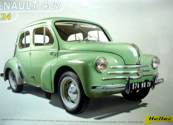 1/24 Montieren Heller Helen 80762 Renault 4cv Oldtimer Modell Kits