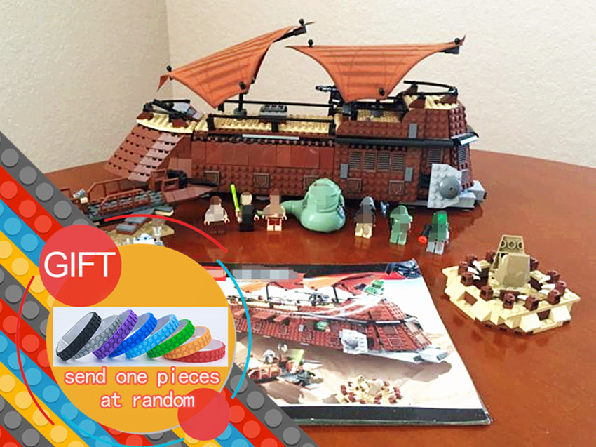 05090 821Pcs Genuine Star War Series The Jabba`s Sail Barge Set Children Educational Building Blocks 6210 Toys lepin herbert george wells the war of the worlds