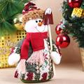 1pcs Table Ornament Standing Snowman Design Indoor Christmas Decoration Supplies Christmas Gift -PH