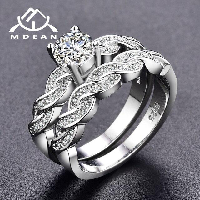 d3c2729f2ae ... Vintage Diamond Engagement Wedding Ring Set Source · MDEAN Wit Goud  Kleur Ring sets voor vrouwen engagement vrouwen