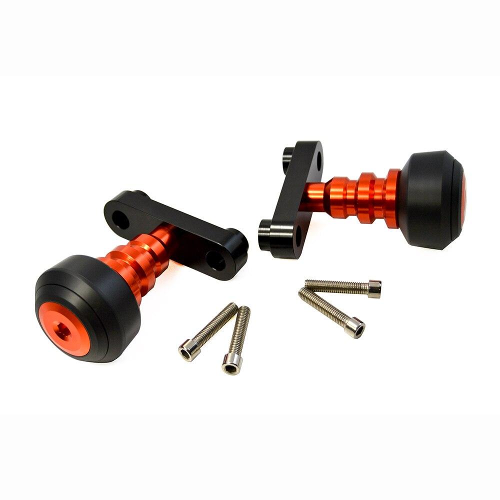 BJMOTO Orange moto gauche et droite cadre curseur Anti Crash protecteur pour KTM DUKE 125 200 250 390