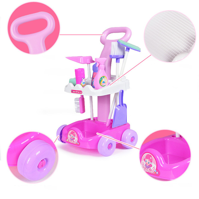Children's Set Home Simulated Carriage Cleaning Tool Vacuum Cleaner Small Home Appliances Toys Tremble Small Toys 2