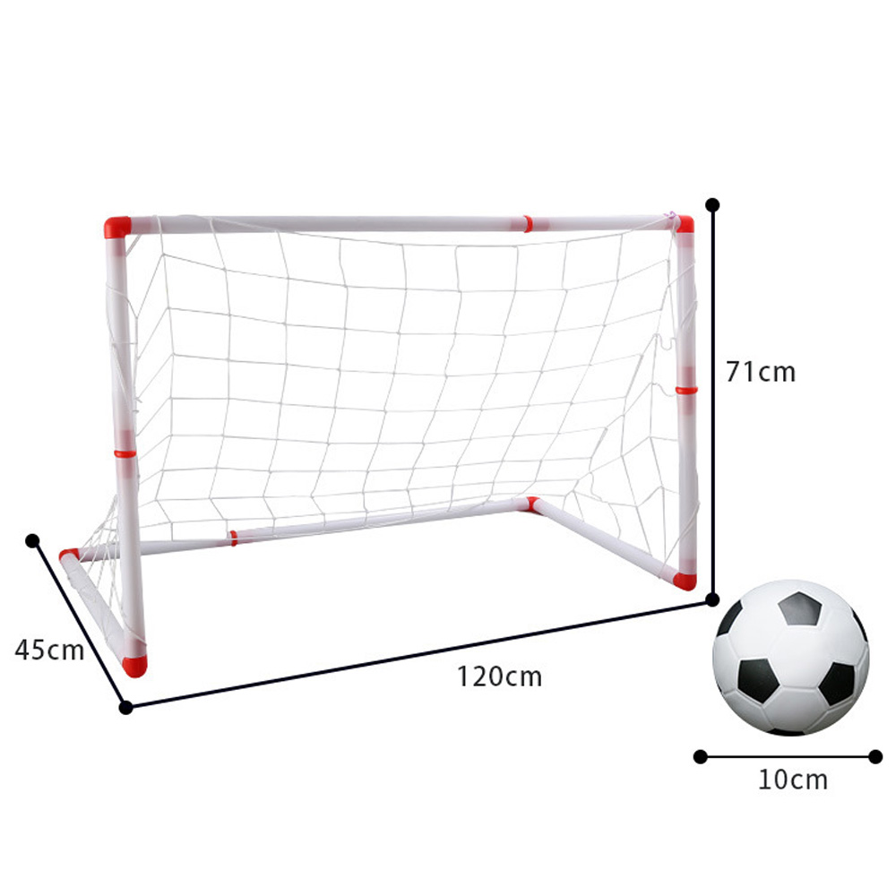 2 In 1 Mini Football Soccer Goal Post Net+Ball+Pump Kids Outdoor Sport Training Games Toy Boy Girl Kid Kids Outdoor Toys