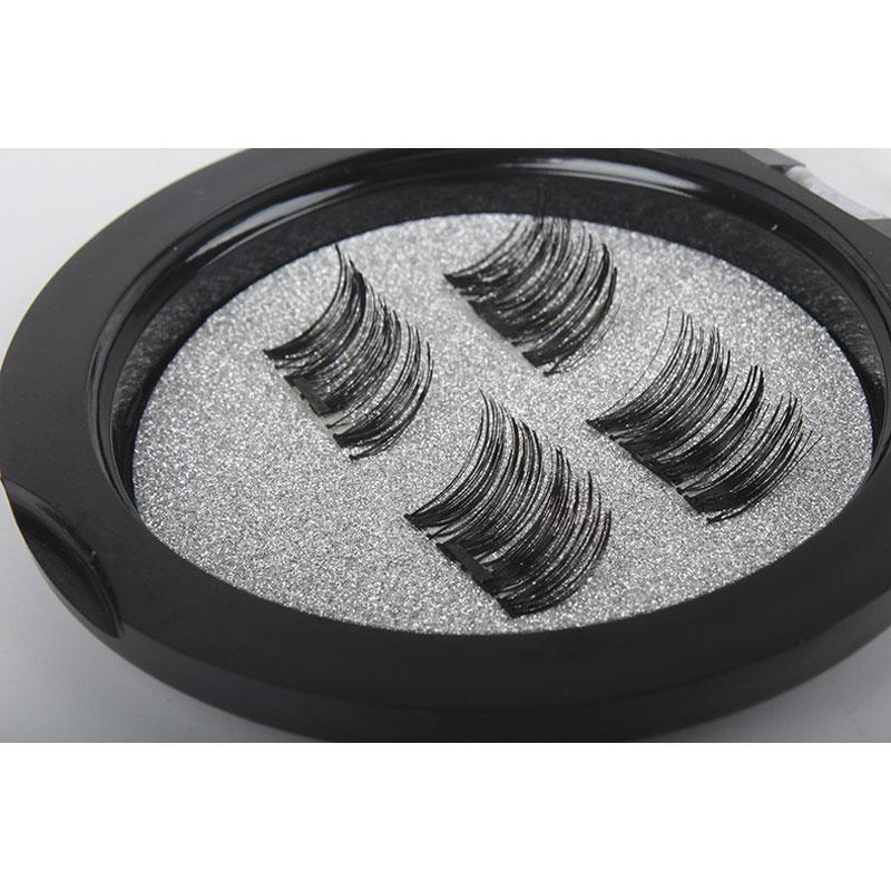 e4f8fc421b2 Professional 3D Double Magnetic Eyelashes Natural No Glue Reusable Fake  False Eye Lashes Extension Handmade 4PCS