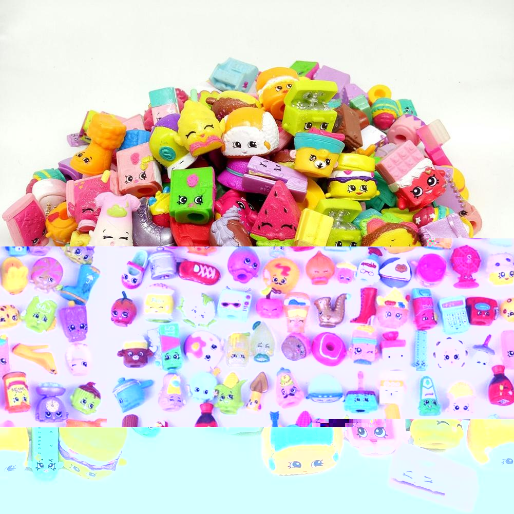 50 Pcs lot Many Styles Shop Action Figures for Family Fruit Kins Shopping Dolls Kid s