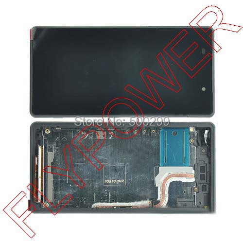 ФОТО For Sony Xperia Z2 D6503 D6502 L50W  LCD Display Digitizer Touch Screen with frame Assembly by free shipping