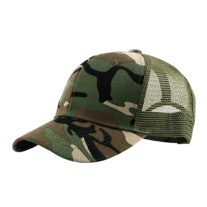 New Men & Women Outdoor Camouflage Cap Visor Baseball Breathable Running Hiking Cap UV Protection Quick-drying Summer Mesh Cap