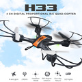 Nova jjrc kvadrokopter h33 mini rc zangão 2.4g 4ch 6 axis gyro RC Quadcopter Modo Headless uma Tecla de retorno Com a Luz do Flash VS H36