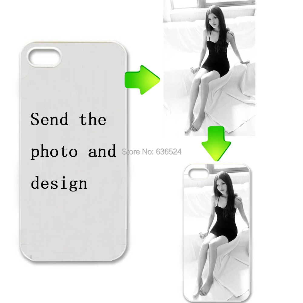 new style 8ece0 6592f Custom LOGO Design Photo Case for iPhone 5S 4S 6 6Plus 7 Hard PC Back Cover  Customized Printed Phone Cases DIY Gifts for Samsung-in Fitted Cases from  ...