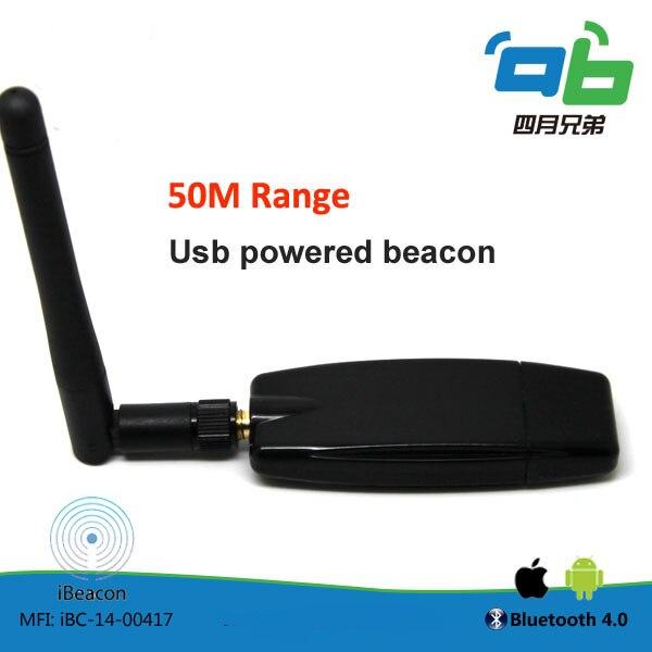 10 pçs/lote Ibeacon Bluetooth 4.0 USB Efeito Para A Faixa de 50 m