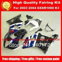 Mix color racing fairing kit for SUZUKI GSXR 1000 2003 2004 GSXR1000 03 04 K3 free custon paint fairing set