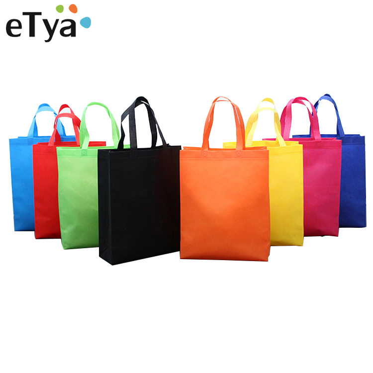 ETya Travel Eco Reusable Shopping Bag Large Capacity Non-woven Fabric Women Foldable Shopping Shoulder Bags Tote Grocery Bags