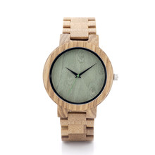 Men's  Top Brand Design Quartz WristWatch Luxury Natural Wooden Watches Maple Sandalwood Zebra  Wood Bands Straps