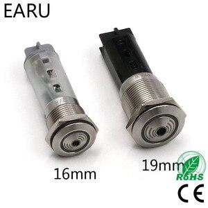 1 шт., 16 мм, 19 мм, 22 мм, металлический звуковой индикатор с Красной светодиодной лампой, электрический сигнал тревоги, импульсный мигающий пре...