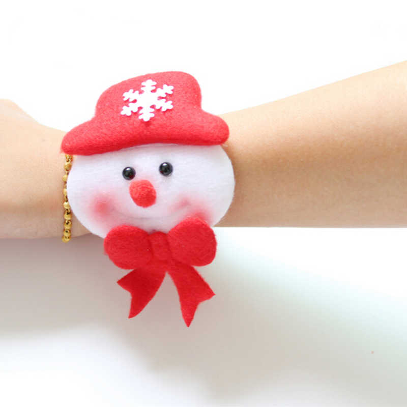 1Pcs Santa Claus Circle Bracelet Christmas Party Decoration Xmas Children Gift New Year Party Toys