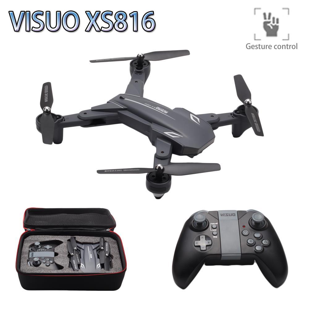 Visuo XS816 positionnement de flux optique double caméra WIFI 2MP + 0.3MP RC Drone geste tir professionnel Selfie Drone VS SG700 E58