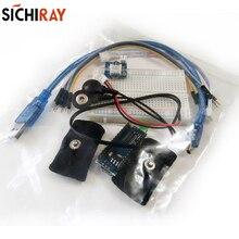Incluindo placa de desenvolvimento do módulo sensor de condutância da pele medir a condutividade da pele Kit de indução de resistência-GSR G