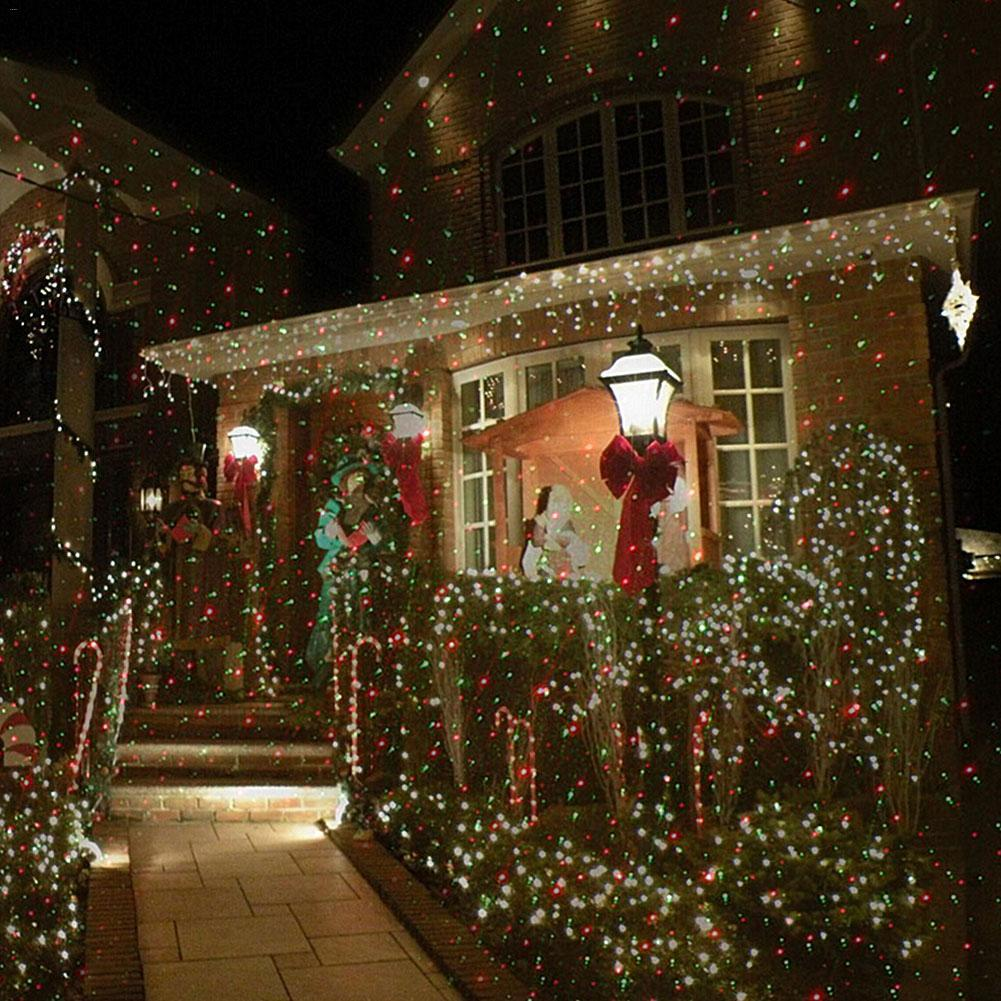 Backyard Twinkle Lights: Christmas Mini Red Green Moving Twinkle Laser Lights