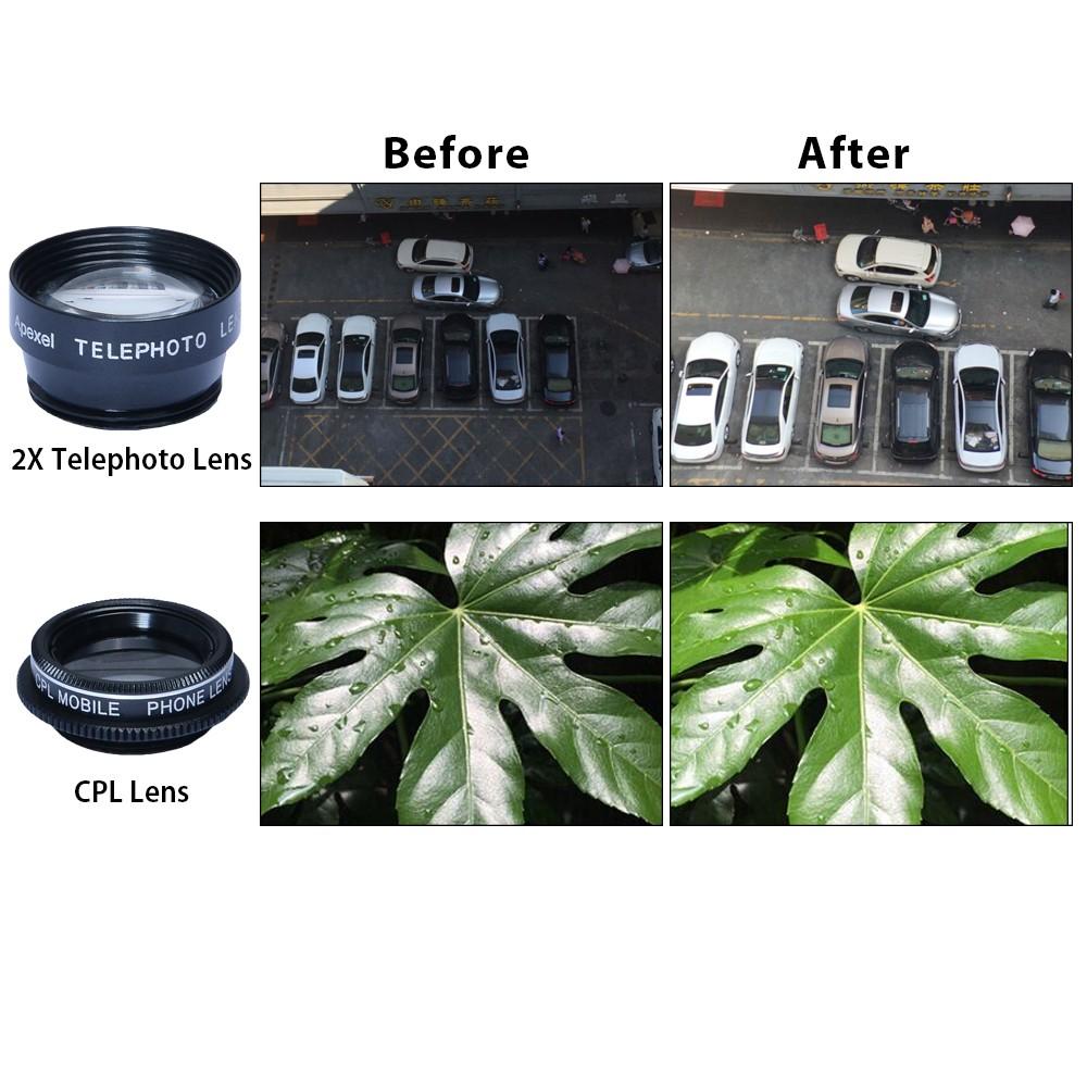 Apexel 5 in 1 HD Camera Lens KIT 5