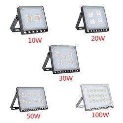 1PCS Ultradünne LED Flutlicht 10W 20W 30W 50W 100W IP65 220V LED scheinwerfer Refletor Außen Beleuchtung Wand Lampe Flutlicht