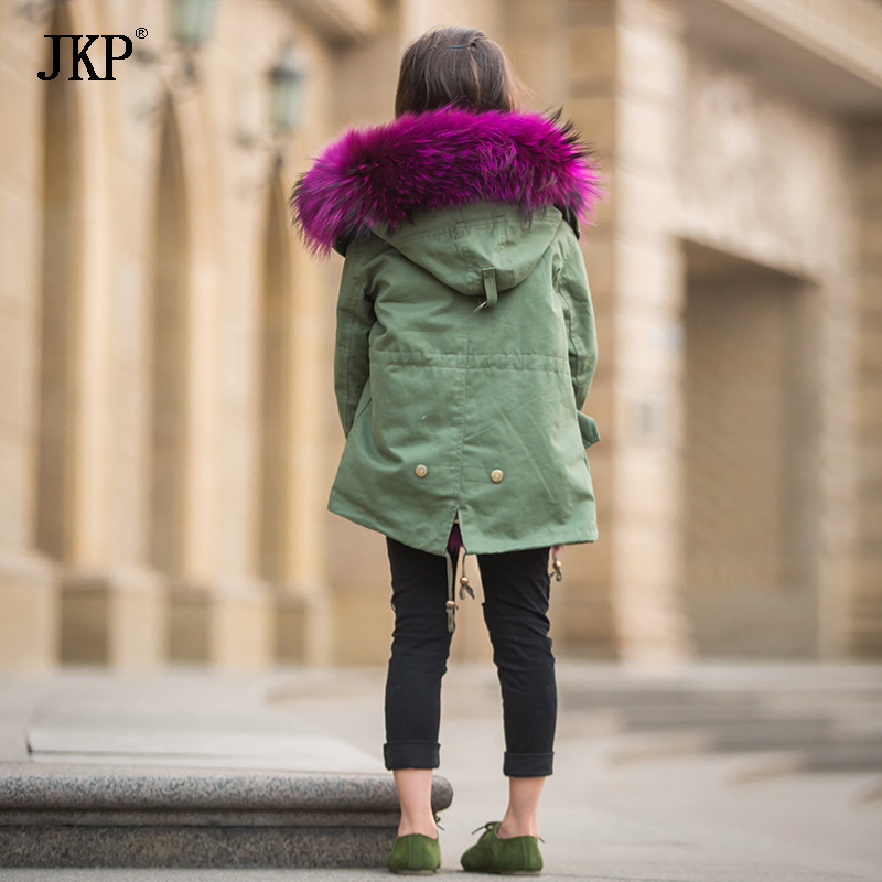 3d8768c7a400a New Winter Children Warm Cotton Coat Suit for Unisex Kids Hooded Fur Collar  Zipper Thick Outerwear Baby Boys Girls Parka