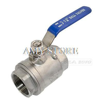 1 1/4 Female BSPP 304 Stainless Steel Full Port Ball Valve Vinyl Handle WOG1000