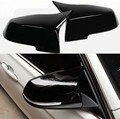 2 шт.  дверная крышка зеркала заднего вида  черный глянец  зеркало заднего вида  колпачки  аксессуары для автомобиля  Стайлинг для BMW 3 4 F30 F31 F32 ...