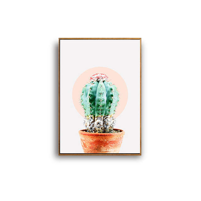 haochu nordic mini st quotes cactus flower green plant canvas