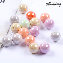 15.5mm Acrylic Jewelry Accessories Beads UV Bright Oil Single Hole Multicolor Hair Ornament Childrens Gifts Handmade