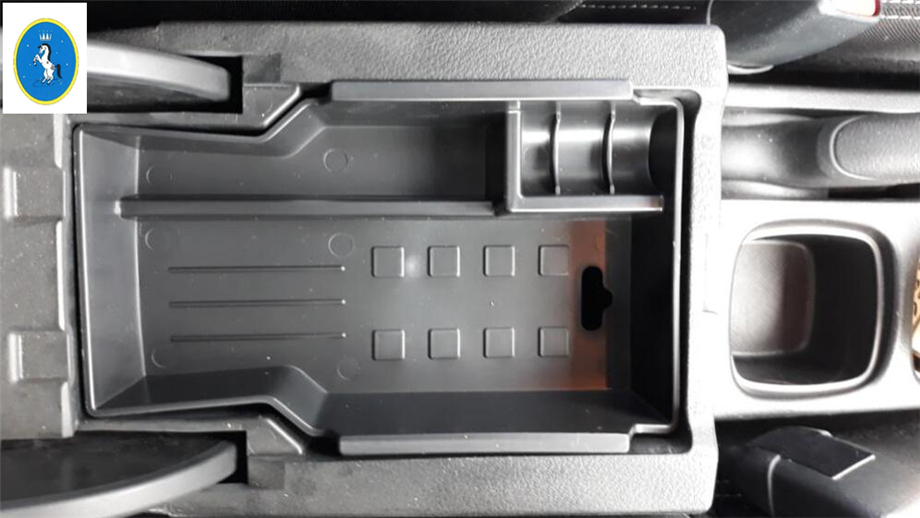 Yimaautotrims Interior Central Storage Pallet Container Multifunction Box Cover Trim For <font><b>Suzuki</b></font> <font><b>Sx4</b></font> s-cross 2014 - <font><b>2019</b></font> Plastic image
