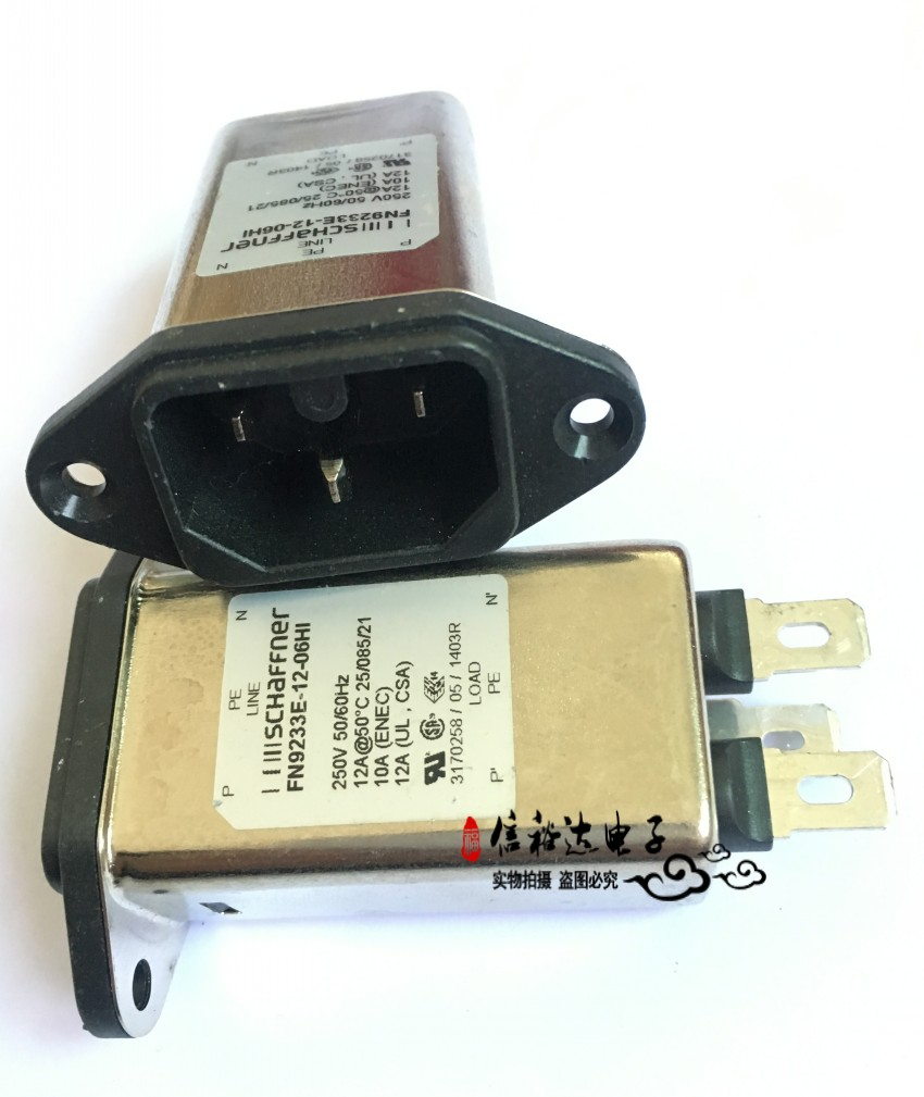 цена на Original new 100% import FN9233E-12-06HI with filter power socket tail insert 12A filter switch